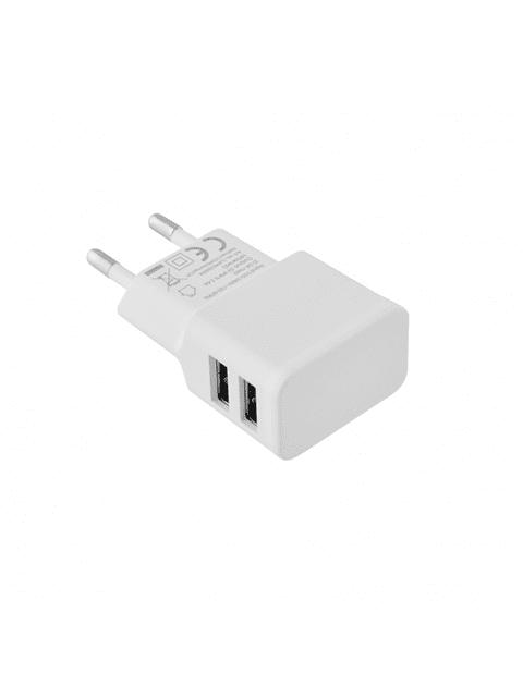 TOTI Auto tīkla lādētājs Dual USB ar  Micro USB vadu 1m