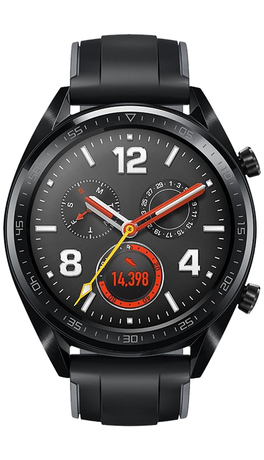 Huawei Watch GT Black Rubber Strap