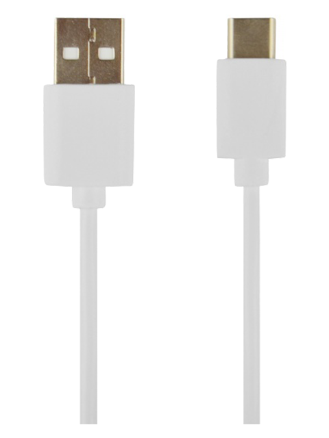 TOTI Ceļošanas adapteris ar USB-C vadu 2.4 A