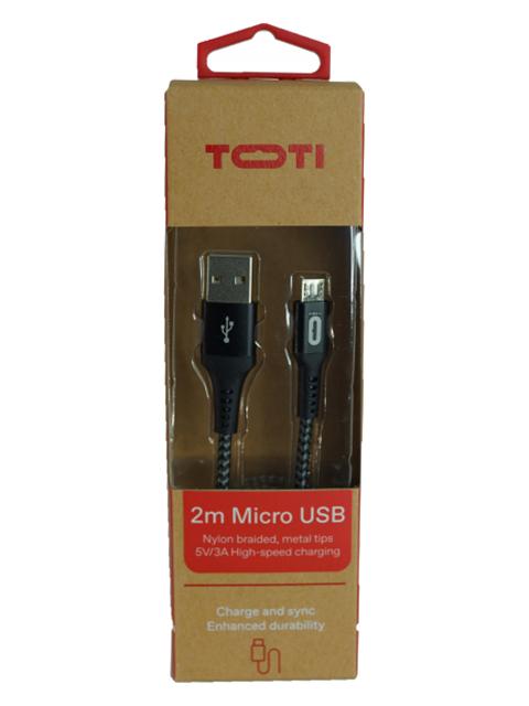 TOTI Lādētāja vads USB to Micro USB 2M