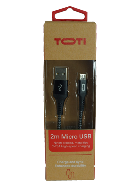 TOTI USB uz MicroUSB 2 m vads