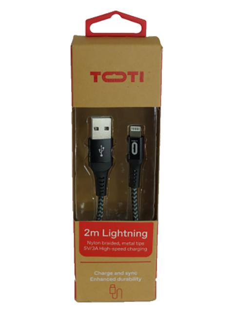 TOTI USB uz Lightning 2M vads