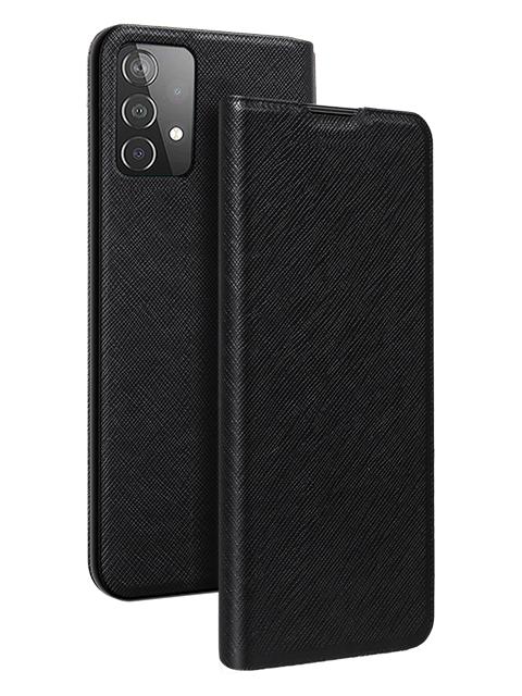 BigBen Galaxy A52 atverams grāmatveida vāciņš, melns